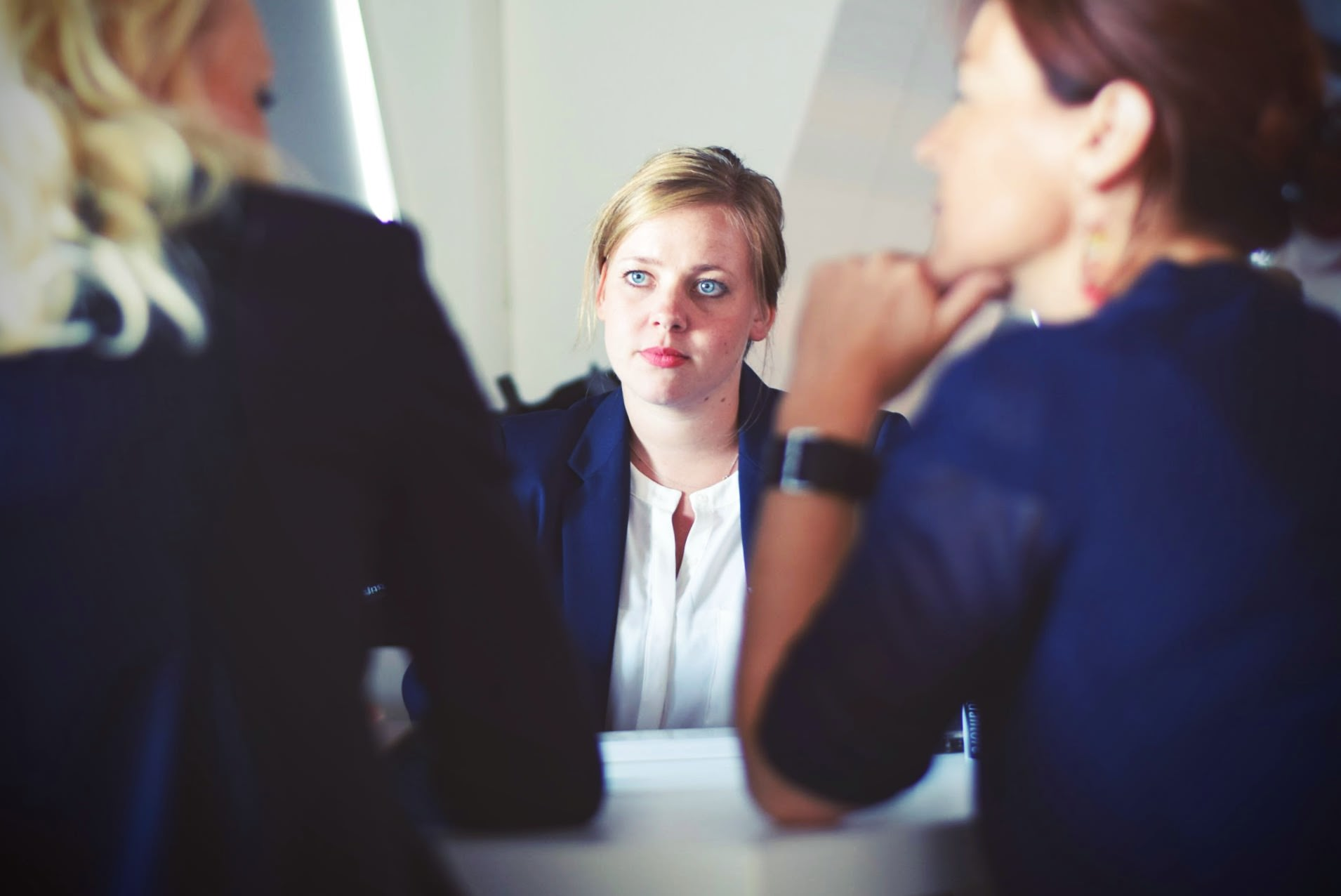 career advice and tips for job seekers looking for better job interview people at a desk middot view interview tips