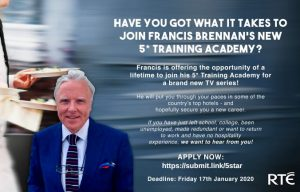 Join Francis Brennan's 5 Star training Academy